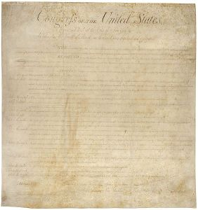 First page of the Bill of Rights, the first of which is?